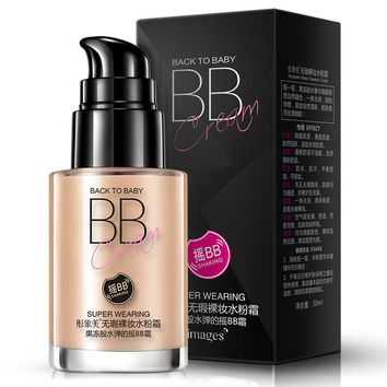 IMAGES Immaculate naked makeup Gouache cream BB frost Powdery bottom Block defect Filling water moisturizing Segregation frost