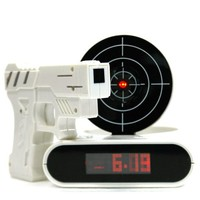 INFMETRY:: Gun O'Clock shooting alarm clock - Gifts For Christmas