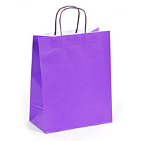 10 1/2W x 13H x 5 1/2G Large Bright purple Gift Bag/Case of 60