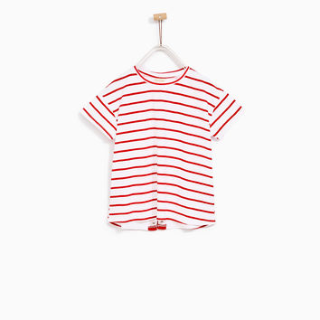 STRIPED T-SHIRT WITH DETAIL IN BACK