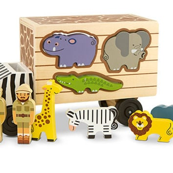 Melissa & Doug Animal Rescue Shape Sorting Truck