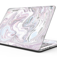 Marbleized Swirling Soft Purple - MacBook Pro with Retina Display Full-Coverage Skin Kit