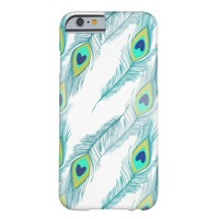 Trendy Peacock Feather Pattern Print Barely There iPhone 6 Case