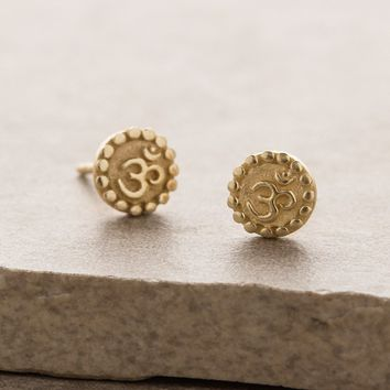 Om Stud Earrings
