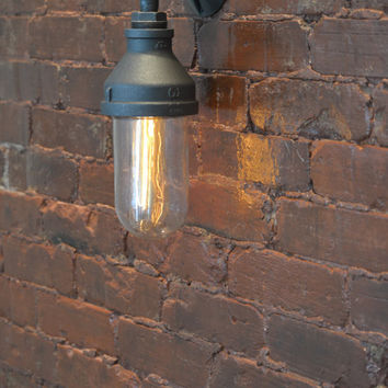 Steampunk Glass Sconce