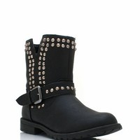 spiked-mid-rise-boots BLACK TAN - GoJane.com