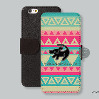 Aztec Hakuna matata Leather Wallet cover iPhone 6 case iPhone 6 plus case, iPhone 5s case iPhone 5c case Galaxy s3 s4 s5 Note3 - C00070