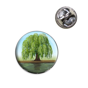 Old Weeping Willow Tree Lapel Pin