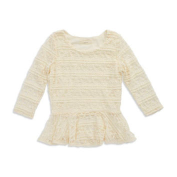 Soprano Girls 7-16 Lace Peplum Top