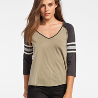 BILLABONG Taking Blame Womens Baseball Tee 244900531 | Raglans & L/S Tees