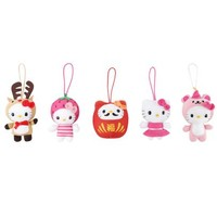 Hello Kitty 5 Pce Plush Ornament Set: Jingle
