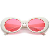 Women's Retro Disco Oval Clout Pantone Lens Sunglasses 51mm C382