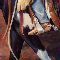 Katies Paint Mare Western Art Cowboy Painting Painting by Kim Corpany - Katies Paint Mare Western Art Cowboy Painting Fine Art Prints and Posters for Sale