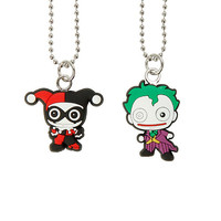 DC Comics The Joker & Harley Quinn Kawaii Necklace Set