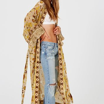 Jen's Pirate Booty Paradise Kimono in Wallflower Golden