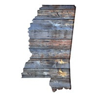 Mississippi Faux Wooden wall decal