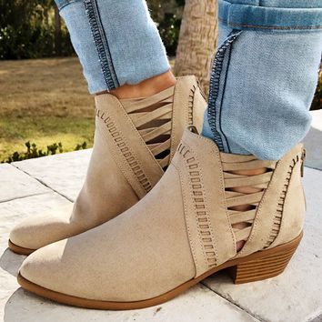 Walking On Air Booties: Taupe