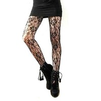 Broadfashion Women's Sexy Patterned Stockings Tatoo Tights Pantyhose
