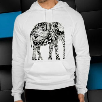 elephant aztec unisex hoodie, clothing men woman, sweater