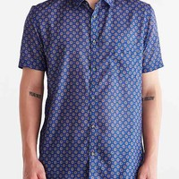 ZANEROBE Seven Foot Paisley Button-Down Shirt- Blue