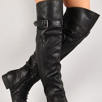 Thigh High Round Toe Riding Boot