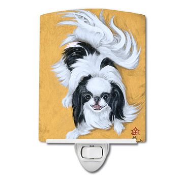 Japanese Chin Black White Play Ceramic Night Light MH1034CNL