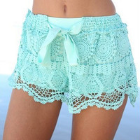 Bow Lace Shorts