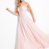 Scoop Neckline Beaded Accent Prom Dress By Rachel Allan Princess 2858