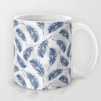 My blue feathers Mug by Juliagrifol designs