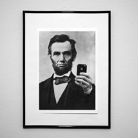 Abraham Lincoln iPhone Wall Art Print Poster A3 (420 x 297 mm / 16.5 x 11.7 in)