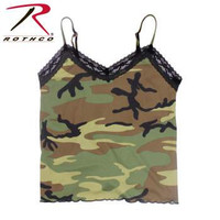 Women's Lace Trimmed Camo Camisole