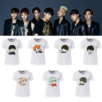 New T-Shirt girls T Shirt  Women Summer BTS Cartoon Lovely Printed Casual  BTS cute T-shirts