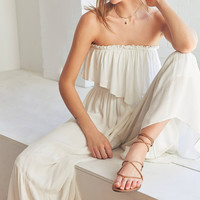 Kimchi Blue Strapless Ruffle Jumpsuit   Urban Outfitters
