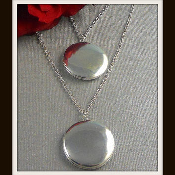 Mother Daughter, Locket, Locket Necklace, Partners, Two Lockets, Sisters,  Valentine, Friendship Lockets- TWINS