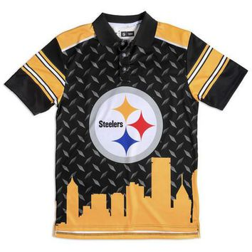 Pittsburgh Steelers NFL Thematic Polyester Polo Shirt