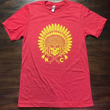 We Got Your Back Apparel  KC Headdress Graphic Tee Red