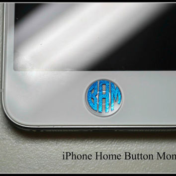 10 Monogram/Initial Vinyl Decals for Home Button On iPhone