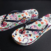 TORY BURCH WEDGE THIN FLIP FLOP Colorful summer slippers women