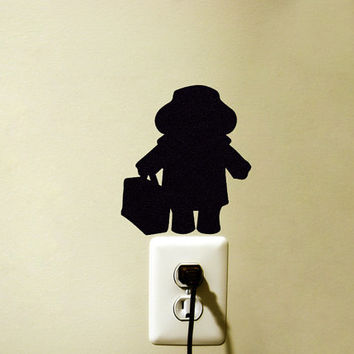 Paddington Bear Velvet Wall Decor - Bear Wall Decal - Paddington Black iPad Sticker