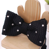 Tok Tok Designs Children Bow Tie for 2 - 8 Years (BK229, Knitted)