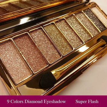 Professional Eye Shadow Maquillage 9 Colors Diamond Bright Makeup Eyeshadow Naked Smoky Palette Make Up Set