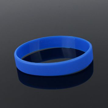 men&women fashion jewelry Unisex Trendy Rubber Flexible Wristband Wrist Band Cuff Bracelet Bangle For Women Men Sports Bracelet