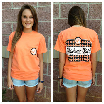 OSU monogram comfort colors pocket t-shirt