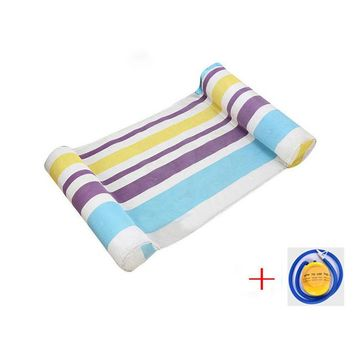 Swimming Pool beach Men Outdoor PVC Water Hammock Lounge Beach Sunbathing Swim Pool Inflatable Floating Bed Rest Chair Sleeping Bed Mat With PillowSwimming Pool beach KO_14_1