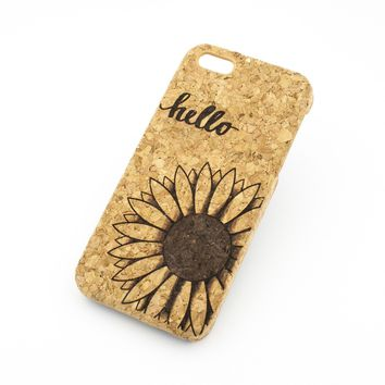 Cork Case Snap On Cover - HELLO SUNSHINE