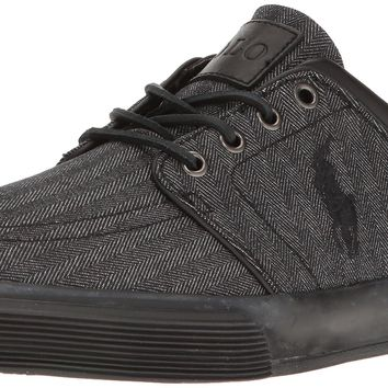 Polo Ralph Lauren Men's Faxon Low Sneaker Black/Black 8 D(M) US '