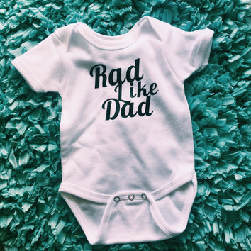 rad like dad Onesuit