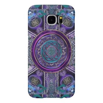Metal Armored Fractal Tapestry Celtic Knot S6 Case