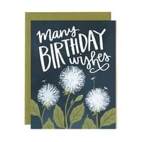 Dandelions Birthday Card
