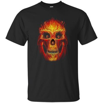 Skull on fire UB™ - Skull Shirt Sweatshirt Hoodie